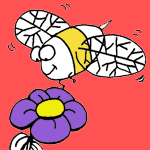 Bees coloring pages for kids