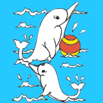 Dolphins coloring pages