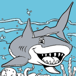 Sharks coloring pages for kids