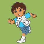Go Diego Go! coloring pages
