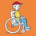 People with Disabilities coloring pages