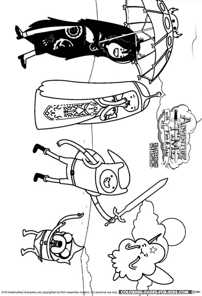 adventure time characters coloring pages - photo#23