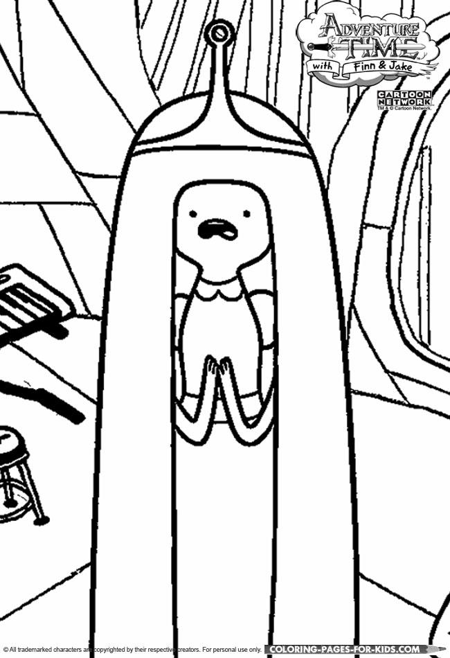 Adventure time coloring princess bubblegum for Adventure time characters coloring pages