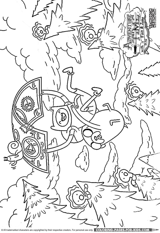 finn and jake adventure time coloring page for kids - Adventure Time Coloring Pages Jake