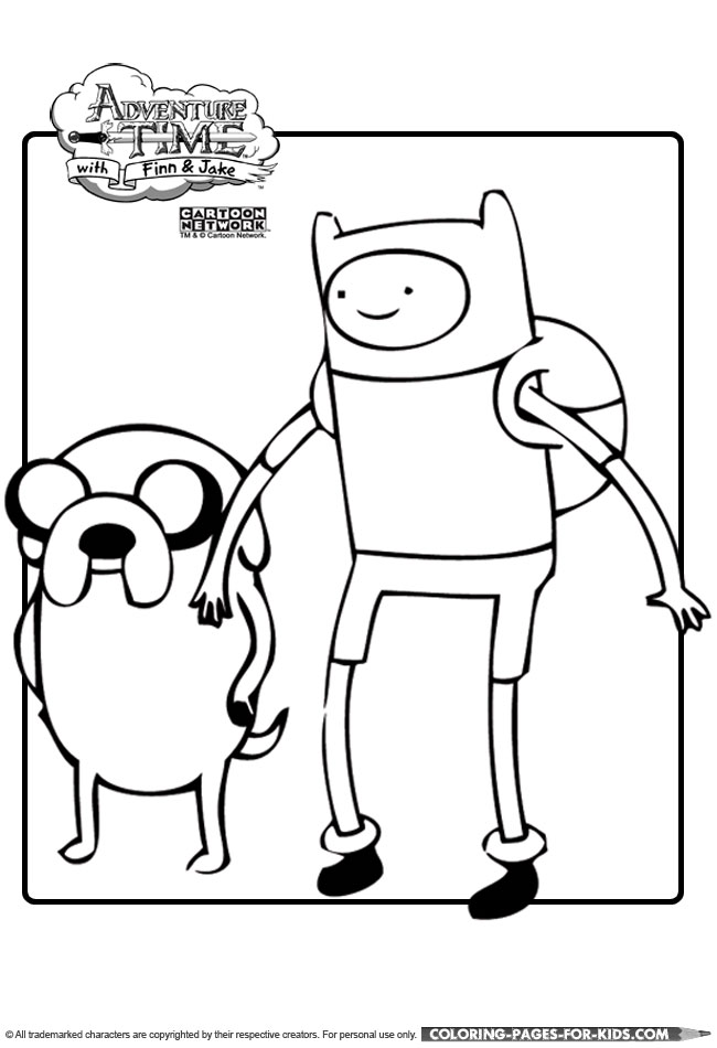 finn and jake adventure time printable coloring page for kids