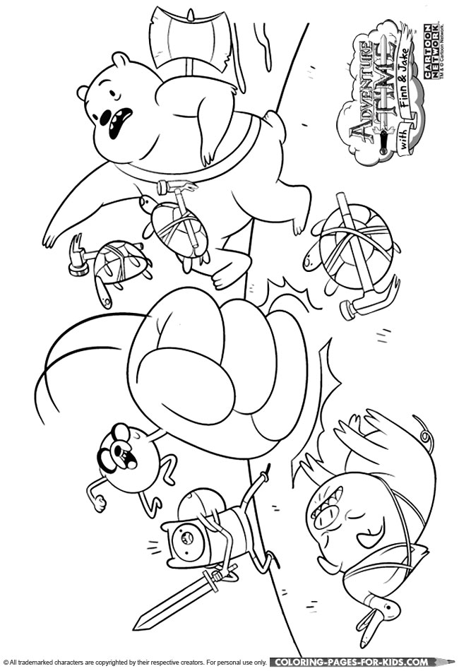 adventure time characters coloring pages - photo#4