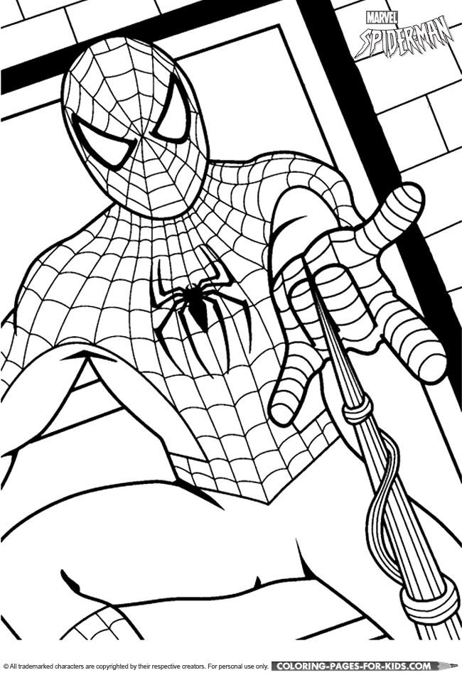 Spider-Man Coloring Page - Spider-Man Superhero