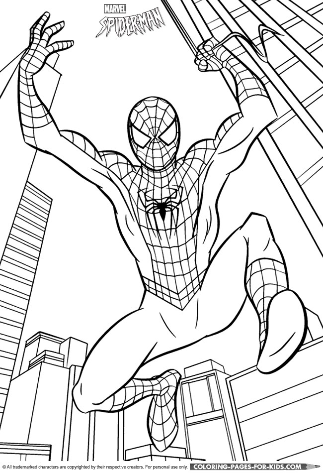 Emejing Spiderman Coloring Book Pictures