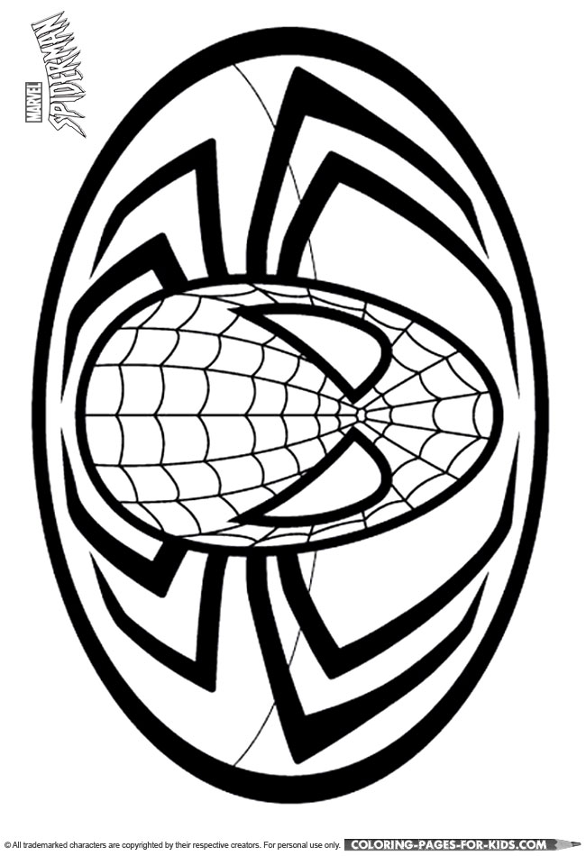 spider man logo coloring page - Spiderman Coloring Page