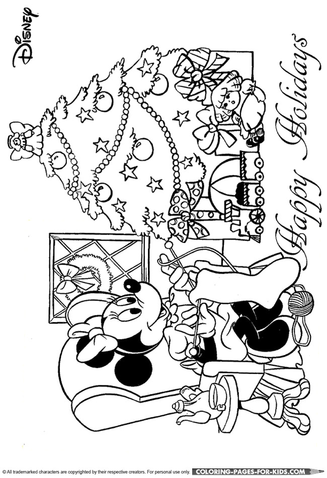 disney christmas coloring pages for kids - disney christmas coloring sheet disney christmas