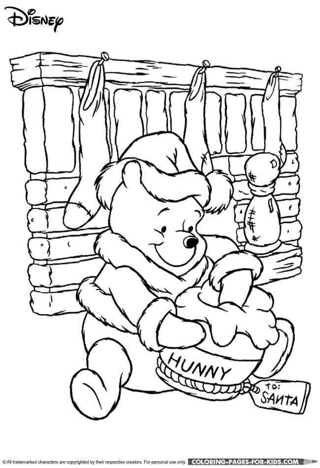 Disney Christmas Free Printable Coloring Page